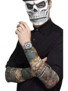 day of the dead tattoo sleeve for men costumes