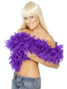 Purple feather boa costumes
