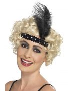Flapper headband black costumes