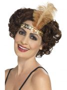 Gold headband Headpiece for flapper costumes