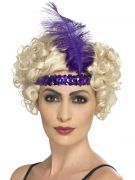 Purple Flapper Headband Headpiece costumes