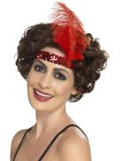 Flapper Headband red costumes