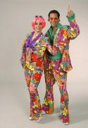 Flower Power Suit male hire costumes