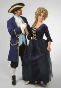 Georgian Navy Dress hire costumes
