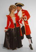 Georgian Red Dress hire costumes