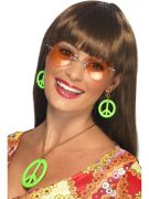 Necklace and Earring Set, Assorted Neon Colours