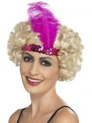 Pink 20s flapper headband headpiece costumes