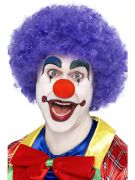 Purple Crazy Clown Wig costumes
