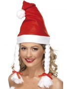 Santa hat w/plaits costumes